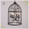 2017 modern metal crystal cage pendant lamp, iron crystal chandelier