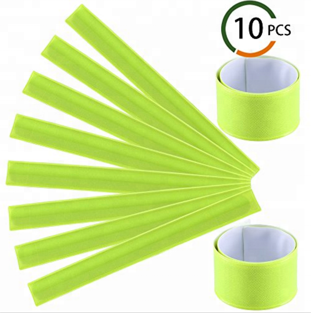 Snap Bracelets Reflective Armbands Slap Bands Wrap 10PCS Night Running Pop Gear