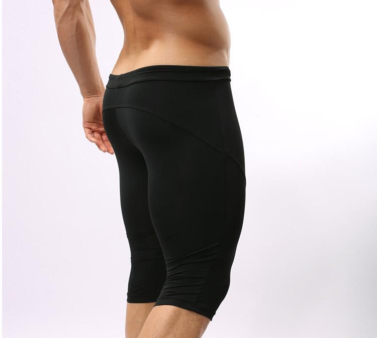 Yoga Shorts Mens Uk: 2018 Wholesale Brave Person Compression Shorts Men Yoga