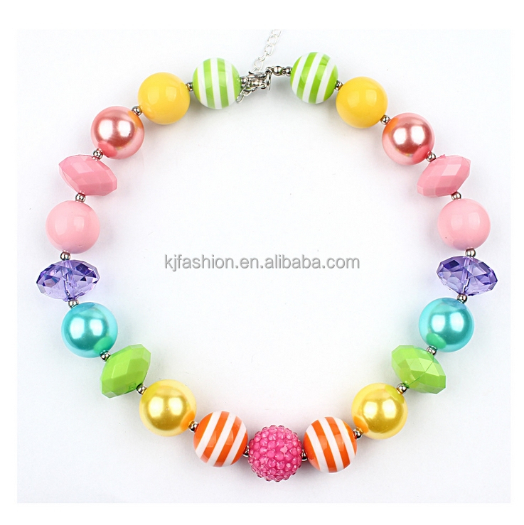 Wholesale chunky bubblegum bead necklace for little kids