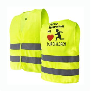 Kids Reflective Safety Vest With Your Logo Printing High Visibility School Hi Vis Reflective Safety Vest For Children Kid