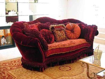 Provasi Luxurious Burgundy Sofa