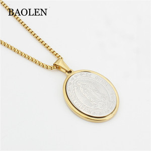 Stainless Steel Gold Filled Jesus Piece Style Bling Iced Out Jesus Christ Charm Religion Pendant Necklaces For Men