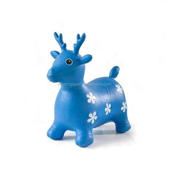 e2162688877 BSCI Factory provide Jumping Deer Bouncy Deer Hopper Inflatable Animal  Hopper