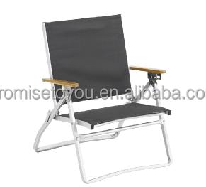 Sedie Pieghevoli Con Braccioli.Pieghevole In Alluminio Sedia Da Campeggio Con Bambu Bracciolo