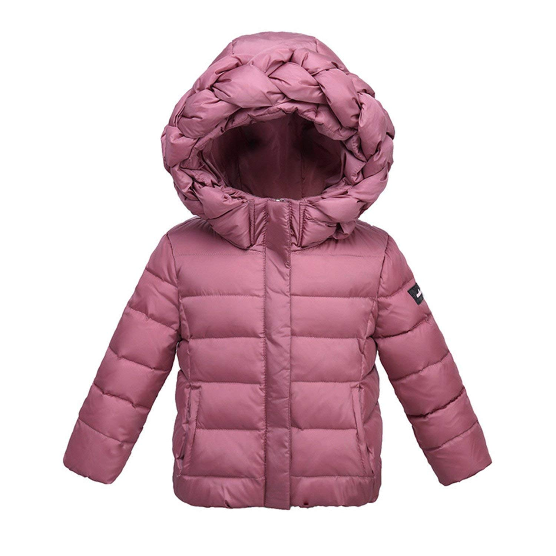 8be710afd Buy Mofgr Baby Girls Winter Jacket Coat Kids Twist Hooded Warm ...