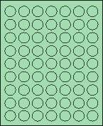 "1"" Round Pastel green Labels for Laser Printers, Inkjet Printers or Copier Machines. (GLC100PG)"