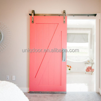 red sliding barn door. 30\u0027\u0027*81\u0027\u0027 Uniqdoor Painted Sliding Barn Doors \u0026 Hardware In Red Door