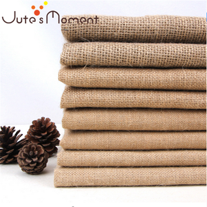 Natural Jute Burlap Fabric For Placemats Bags Tablecloth Back ground Decoration Mesh Linner Textile Cloth