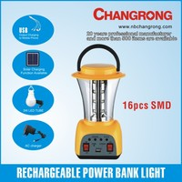 rechargeable solar led lantern with power bank with mobile charger led bulbs