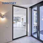 Main entry modern Design soundproof aluminum pivot glass door with frame