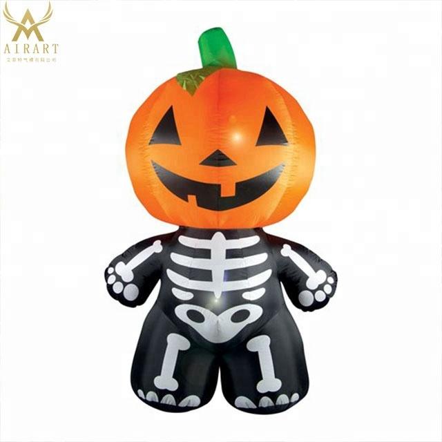 7ft To 20ft Cartoon Pumpkin Monster Inflatable Skeleton ...