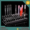 Clear acrylic make up lipstick pen and E-cigarette display stand holder rack wholesale