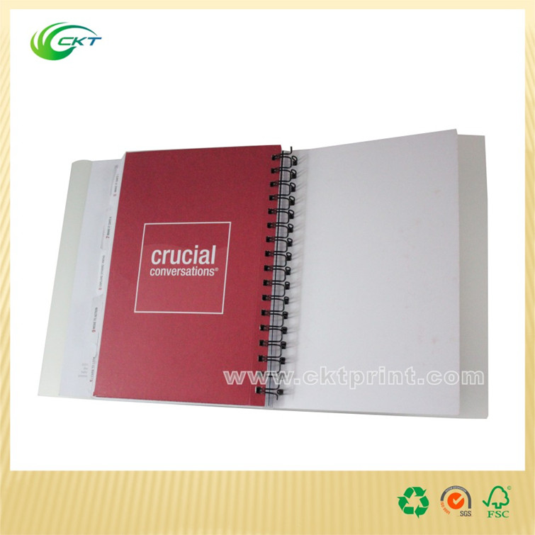 New style spiral binding hardcover book printing