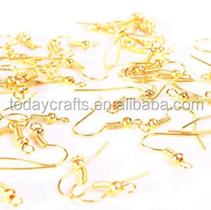 18mm nickel free gold color earring hooks ear wire