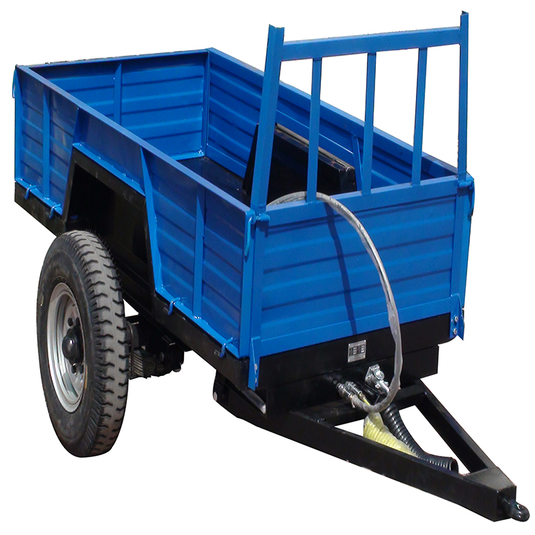 Light Duty 8 Ton 4 Wheel Farm Trailer With Tipping