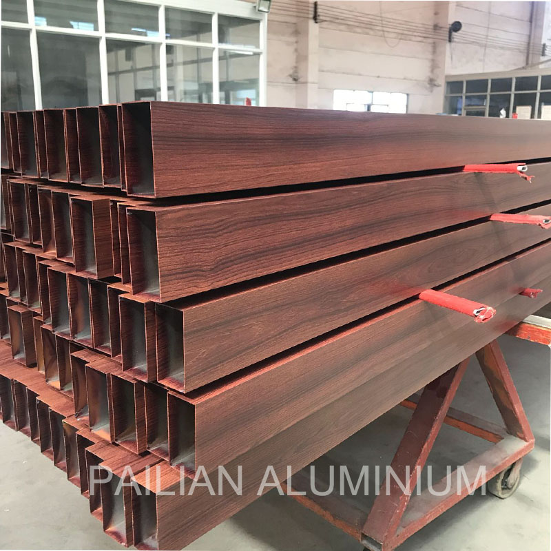 OEM electrophoretic alloy  aluminium bronze color polishing extrusion aluminum window frame sectionfactory in China