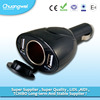 Low price 12v 2 port usb Car cigarette adapter socket car charger with light
