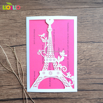 Hot Sale Holiday Supplies Laser Cut Inc241 Wedding Invitation Models