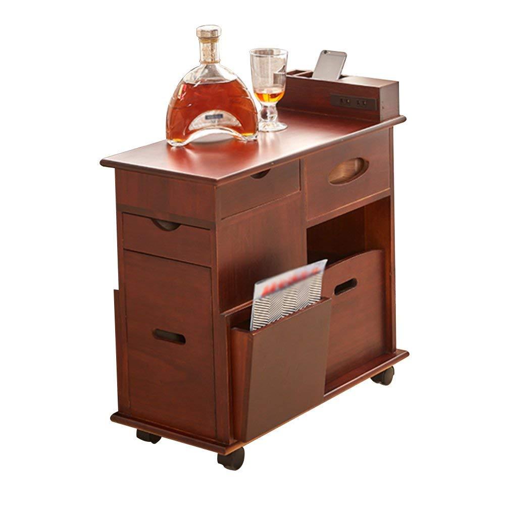 AiHerb.LT nightstand Bedside Cabinet Solid Wood Lockers Storage Cabinets Drawer Bedside Cabinets (Color : C)