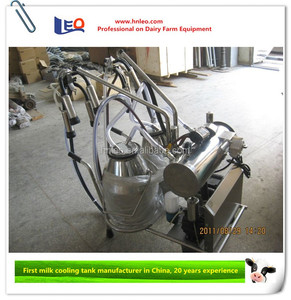 Cow milking machine used for small dairy plant