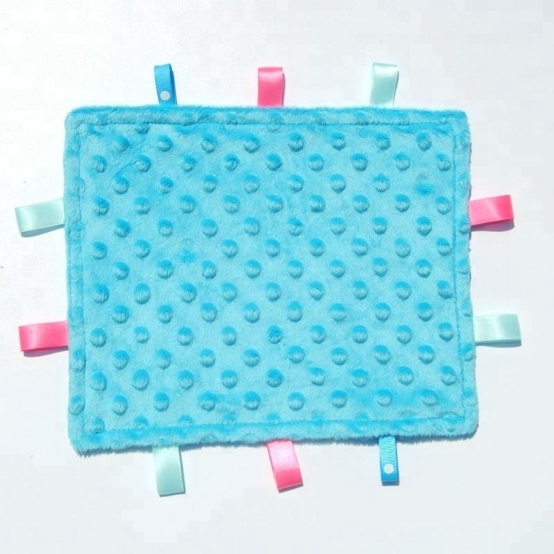 New Coming Super Soft Bubble Design Baby Tag Security Blanket