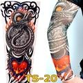 Free Shipping 2 PCS 2015 New Fashion Dragon Fire Heart Fake Tattoo Sleeves Arm Leg For