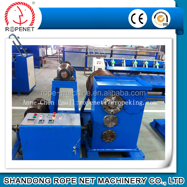 China manufacturer cable wire D type rope making machine Email:ropenet17@ropeking.com Tel:0086 18253809161