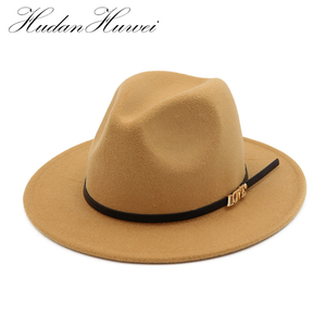 e392a697b23 Fedora Hat For Lady fake wool Felt Cap For Men