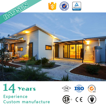 Prefabricated modular glass house bungalow insulation for Prefab glass house prices