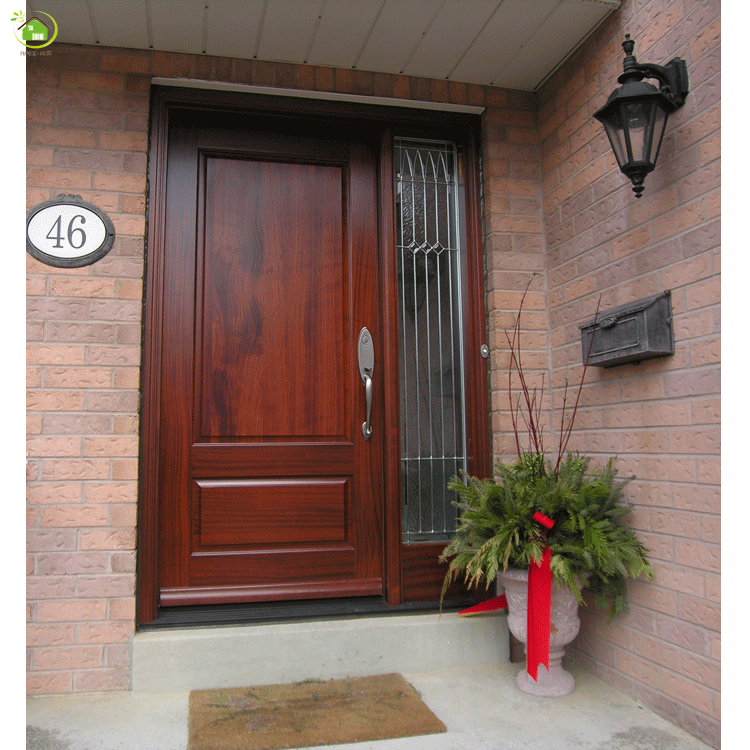 tempered glass asian armored exterior front mother and son doors