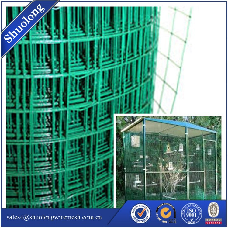 Pvc Coated Welded Wire Mesh Fencing Chicken Poultry Aviary Fence For ...
