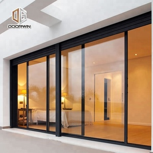 Vancouver Sound Proof Sliding Aluminum Storefront Glass Doors With Weather  Seal Strip