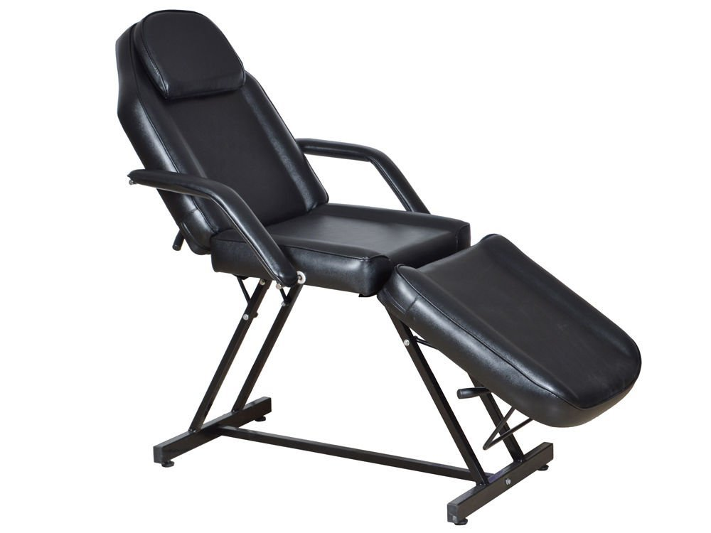 """73"""" Adjustable Facial Massage Salon Bed Spa Chair Tattoo Table w/Hydraulic Stool + FREE E-Book"""
