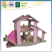 Fashion design pink wooden dollhouse plans