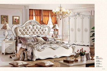 Classic Adult Bedroom Sets Mdf Wooden Carving Flower Design Queen ...