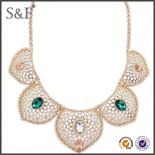TOP10 BEST SELLING!! Crystal Fashion New Design macrame necklace