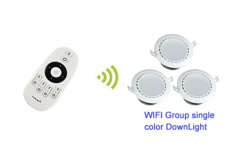 6x 2.4G Mi-Light Wireless 12W Warm White+Cool White CCT Dual white LED Smart <strong>Downlight</strong> + 1x Brightness Dimmer Remote Controller