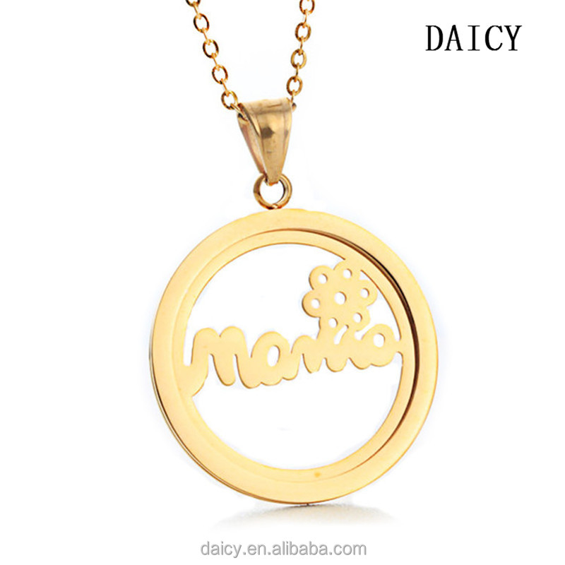 Daicy Simple Fashion Stainless Steel Mom Tanishq Gold Pendant Designs - Buy  Tanishq Gold Pendant Designs,Mom Pendant,Mother's Day Gift Product on