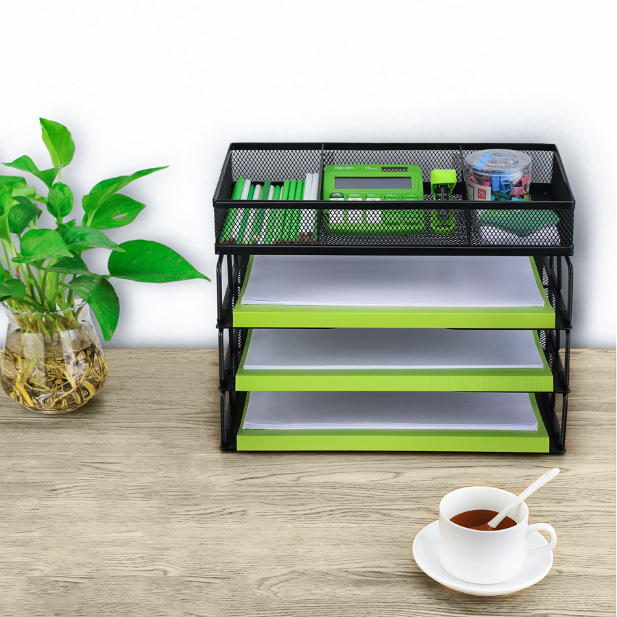 Nice Design Home Office Table Desktop Storage Tray Desk Organizer Set