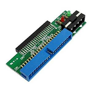 "Water & Wood Blue Green Laptop Hard Drive Adapter to Desktop 43 Pin 2.5"" to 39 Pin 3.5"" IDE"