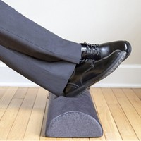 Ergonomic Airplane Office Leg Feet Knee Support Half Moon Cylinder Bolster Non-slip Bottom Foot Rest Cushion For Under Desk