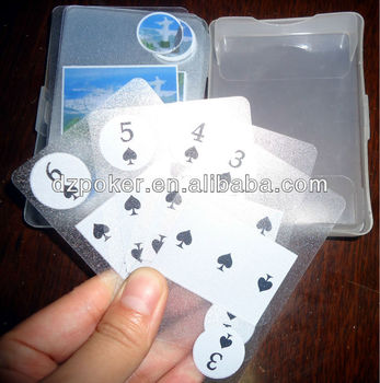 Bridge Size Plastic Playing Cards