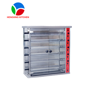 Stainless Steel 6 Layers Kitchen Gas Rotisserie/Chicken Grill Machine for 30 Chicken