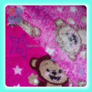small monkey print coral fleece for blanket