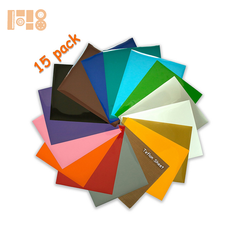 Assorted PU Iron On HTV Heat Transfer Vinyl for T-shirts, Garments