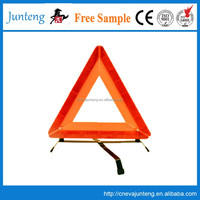 Car emergency safety kit with road warning triangle