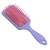 Logo High Quality Scalp Massage Plastic Square Hair Paddle Brush