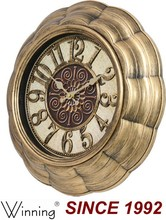 18 inch bronce antiguo reloj de pared