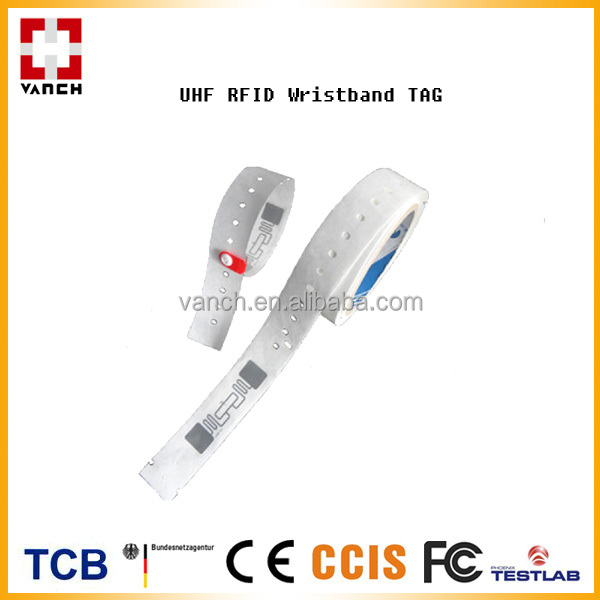 Disposable wristband uhf rfid bracelet tag